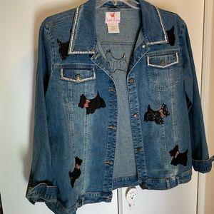 QF new denim jacket 1x